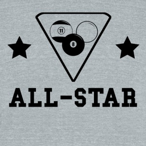 Billiards All Star - Unisex Tri-Blend T-Shirt by American Apparel