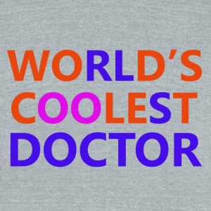 doctor designs - Unisex Tri-Blend T-Shirt by American Apparel