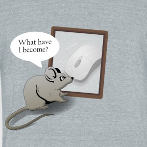 A Mouse Reflects Over His Life - Unisex Tri-Blend T-Shirt by American Apparel