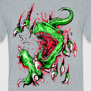 Velociraptor - Unisex Tri-Blend T-Shirt by American Apparel