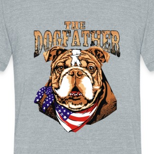 The Dogfather - Unisex Tri-Blend T-Shirt by American Apparel