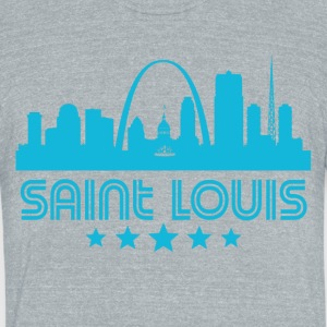 Retro Saint Louis Skyline - Unisex Tri-Blend T-Shirt by American Apparel