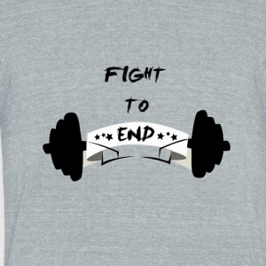 Fight To End - Unisex Tri-Blend T-Shirt by American Apparel
