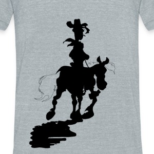 Lucky Luke Silhouette - Unisex Tri-Blend T-Shirt by American Apparel