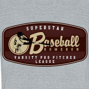 SUPERSTAR BASEBALL HOMERUN - Unisex Tri-Blend T-Shirt by American Apparel