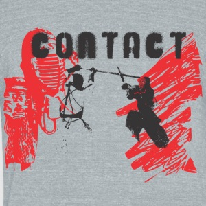 Japan samurai contact fight - Unisex Tri-Blend T-Shirt by American Apparel