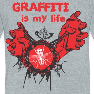 Graffiti is my life - Unisex Tri-Blend T-Shirt by American Apparel