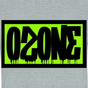 Ozone Graffit Invert - Unisex Tri-Blend T-Shirt by American Apparel