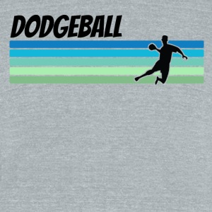 Retro Dodgeball - Unisex Tri-Blend T-Shirt by American Apparel