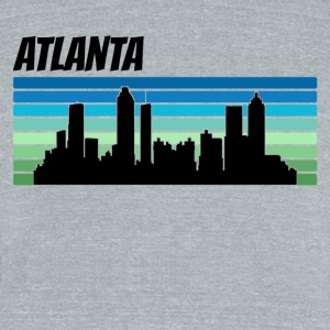 Retro Atlanta Skyline - Unisex Tri-Blend T-Shirt by American Apparel
