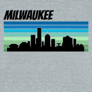 Retro Milwaukee Skyline - Unisex Tri-Blend T-Shirt by American Apparel