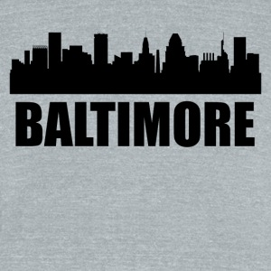 Baltimore MD Skyline - Unisex Tri-Blend T-Shirt by American Apparel