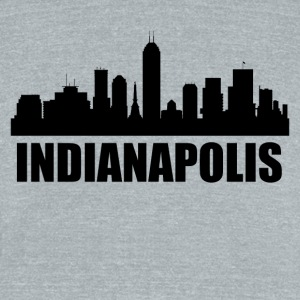 Indianapolis IN Skyline - Unisex Tri-Blend T-Shirt by American Apparel
