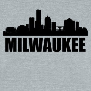 Milwaukee WI Skyline - Unisex Tri-Blend T-Shirt by American Apparel