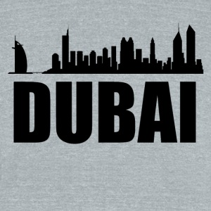 Dubai Skyline - Unisex Tri-Blend T-Shirt by American Apparel