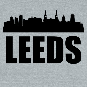 Leeds Skyline - Unisex Tri-Blend T-Shirt by American Apparel