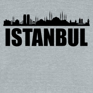Istanbul Skyline - Unisex Tri-Blend T-Shirt by American Apparel