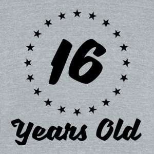 16 Years Old - Unisex Tri-Blend T-Shirt by American Apparel