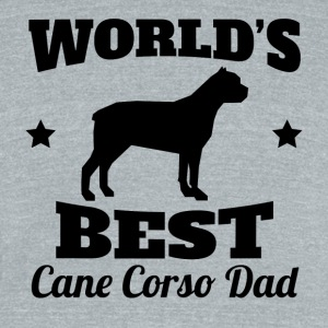 World's Best Cane Corso Dad - Unisex Tri-Blend T-Shirt by American Apparel