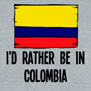 I'd Rather Be In Colombia - Unisex Tri-Blend T-Shirt by American Apparel