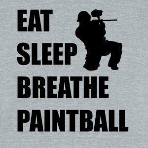 Eat Sleep Breathe Paintball - Unisex Tri-Blend T-Shirt by American Apparel