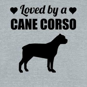 Loved By A Cane Corso - Unisex Tri-Blend T-Shirt by American Apparel