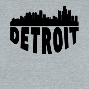 Detroit MI Cityscape Skyline - Unisex Tri-Blend T-Shirt by American Apparel