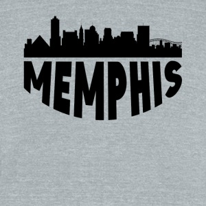 Memphis TN Cityscape Skyline - Unisex Tri-Blend T-Shirt by American Apparel