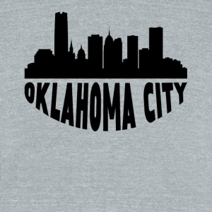 Oklahoma City OK Cityscape Skyline - Unisex Tri-Blend T-Shirt by American Apparel