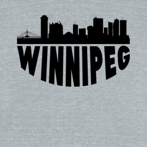 Winnipeg Canada Cityscape Skyline - Unisex Tri-Blend T-Shirt by American Apparel