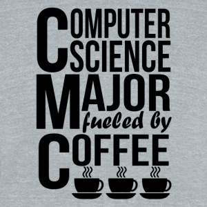 Computer Science Major Fueled By Coffee - Unisex Tri-Blend T-Shirt by American Apparel