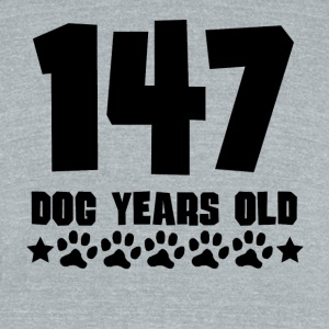 147 Dog Years Old Funny 21st Birthday - Unisex Tri-Blend T-Shirt by American Apparel