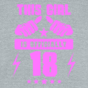 This Girl Is Officially 18 - Unisex Tri-Blend T-Shirt by American Apparel