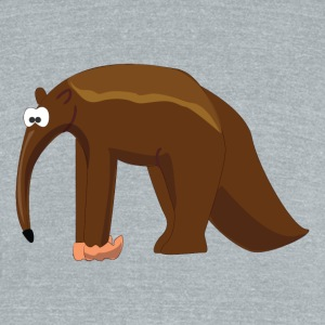Cartoon Anteater - Unisex Tri-Blend T-Shirt by American Apparel