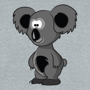 Cartoon Koala Bear - Unisex Tri-Blend T-Shirt by American Apparel