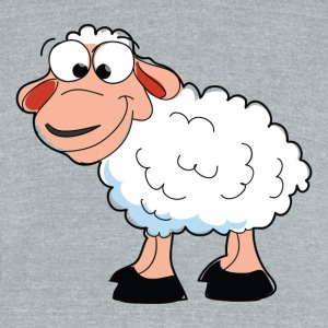Cartoon Sheep - Unisex Tri-Blend T-Shirt by American Apparel