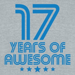 17 Years Of Awesome 17th Birthday - Unisex Tri-Blend T-Shirt by American Apparel