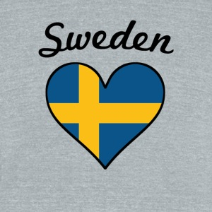 Sweden Flag Heart - Unisex Tri-Blend T-Shirt by American Apparel