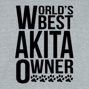 World's Best Akita Owner - Unisex Tri-Blend T-Shirt by American Apparel