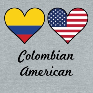 Colombian American Flag Hearts - Unisex Tri-Blend T-Shirt by American Apparel