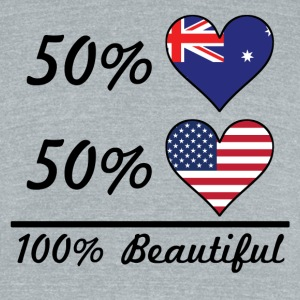 50% Australian 50% American 100% Beautiful - Unisex Tri-Blend T-Shirt by American Apparel