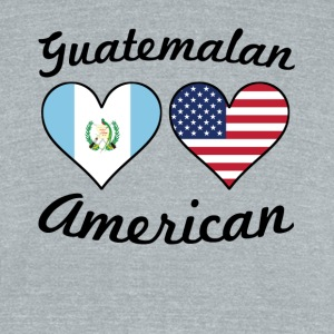 Guatemalan American Flag Hearts - Unisex Tri-Blend T-Shirt by American Apparel