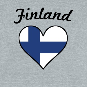 Finland Flag Heart - Unisex Tri-Blend T-Shirt by American Apparel