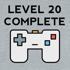 Level 20 Complete 20th Birthday - Unisex Tri-Blend T-Shirt by American Apparel