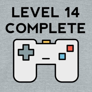 Level 14 Complete 14th Birthday - Unisex Tri-Blend T-Shirt by American Apparel