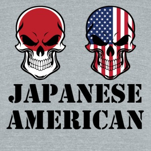 Japanese American Flag Skulls - Unisex Tri-Blend T-Shirt by American Apparel