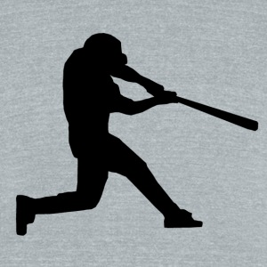 Baseball Batter - Unisex Tri-Blend T-Shirt by American Apparel
