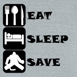 Eat Sleep Save Hockey - Unisex Tri-Blend T-Shirt by American Apparel