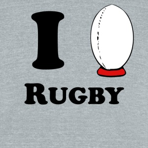 I Heart Rugby - Unisex Tri-Blend T-Shirt by American Apparel
