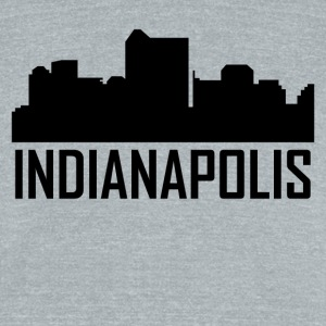 Indianapolis Indiana City Skyline - Unisex Tri-Blend T-Shirt by American Apparel